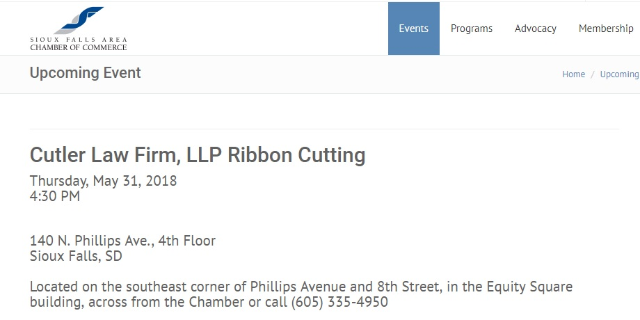 Sioux Falls Area Chamber of Commerce Ribbon Cutting