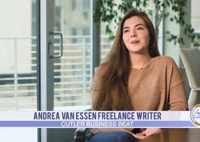 Andrea Van Essen featured on Cutler Business Beat
